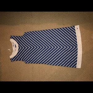 Navy and white Vineyard Vines dress